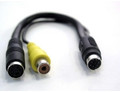 Mini-Din 7-Pin (Video Card) Male to S-Video (Din-4) and RCA Female Cable Adapter