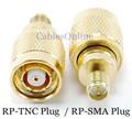 RP-SMA Plug to RP-TNC Plug Adapter