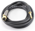 10 ft. Premium XLR Female to 1/4 inch TRS Audio Cable, 16AWG, Gold-Plated