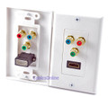HDMI + Component (RGB) Audio/ Video Wall Plate, White