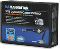 Web-Cam 5.0 MP with Headset, Communicator Combo, MANHATTAN 460507
