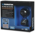 USB HD 720P Pro Web-Cam, with Face Tracking & Built-in Microphone, Manhattan 460514
