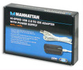 USB to IDE 40/44 Pin Adapter with Power Supply, Manhattan 205054