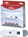 USB Wireless 300N Dual-Band, 2T2R Mimo Adapter, Intellinet 524995