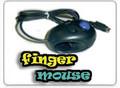 USB 4D Finger Mouse with Trackball, Black