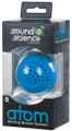Sound Science Atom Glowing Wireless Bluetooth Mini-Speaker w/ LED Lighting, Blue