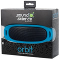 Sound Science Orbit Wireless Bluetooth Speaker System w/MP3 Player, Blue