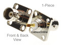 Commercial Grade BNC Female Jack Bulkhead Panel Chassis Mount Connector, RF-B901