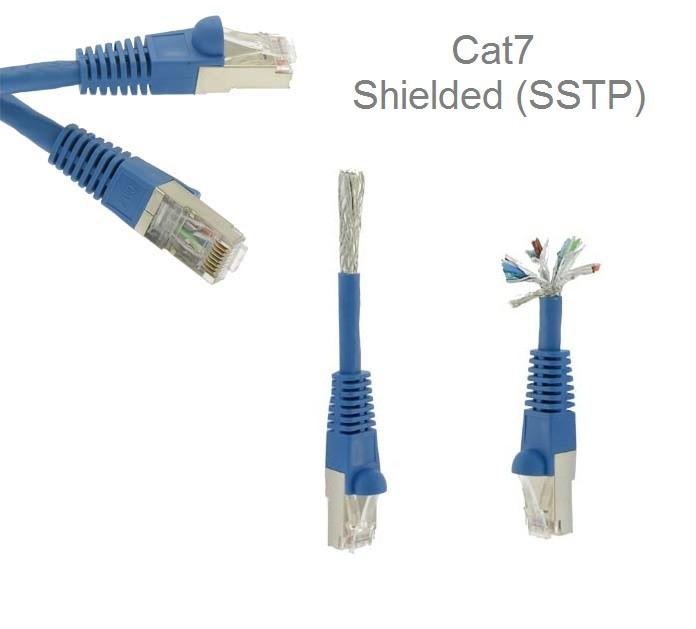 100FT CAT7 Ethernet Copper SSTP Bulk Cable Blue
