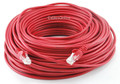 150 ft. CAT5.E UTP Patch Ethernet Cable with Snagless Molded Boots, Red
