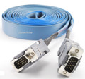 15ft VGA (HD15) Male to Male Flat Ribbon Monitor Cable