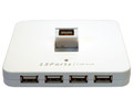 13-Port USB 2.0 External Hub with Horizontal Port, White