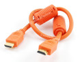 1.5 Ft HDMI Cable 1.3a 28AWG with Ferrite Cores, Orange