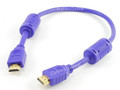 1.5 Ft HDMI Cable 1.3a 28AWG with Ferrite Cores, Blue