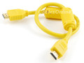 1.5 Ft HDMI Cable 1.3a 28AWG with Ferrite Cores, Yellow