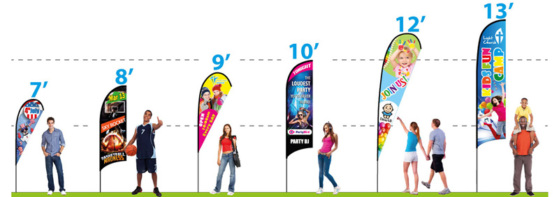 Custom Feather Flags Cheap & Double Sided Feather Banners wholesale
