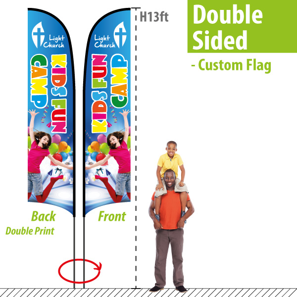 29a1d7ec6a5 Custom Feather Flags  9+ Cheap! Double Sided Feather Banners