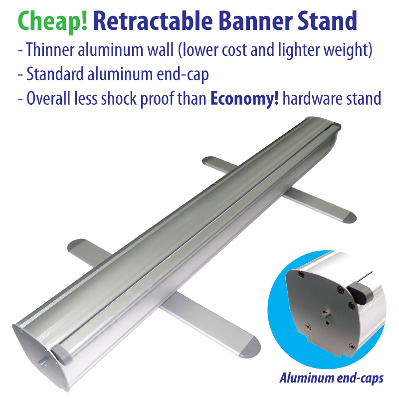 Cheap retractable banner stand hardware