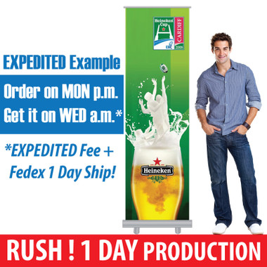 Express Retractable Banners - Fast, Expedited, RUSH 1 Day Production