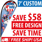 Custom Teardrop Flags Cheap