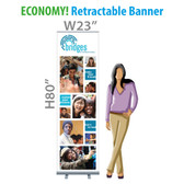 "BRIDGES (Campus) - 23"" ECONOMY! Retractable Banner (Fabric)"