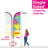 H10ft Feather Flag (Single Sided full color custom printing)