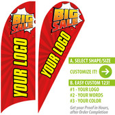 BIG SALE! Red Custom Feather Flags with your logo or words printed