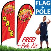 Feather Flag for Mega SALE! (Red Banner with Yellow Words)