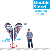 7ft Double Sided Teardrop Banner