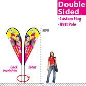 H9ft Double Sided Teardrop Banner