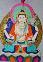 Tibet Appliqué Chenresig Thangka
