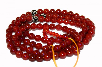Tibet Carnelian Mala Prayer beads. Gorgeous.