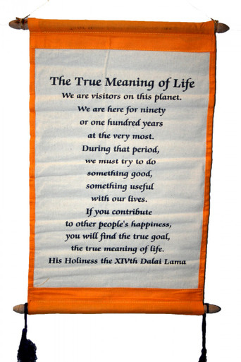 Tibet The True Meaning of Life. Wall Hanging. At Tibet Spirit Store