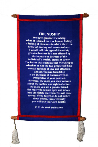 Tibet Friendship wall hanging. At Tibet Spirit Store