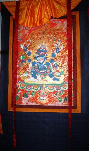 Tibetan Mahakala Thangka Hanging Scroll. At Tibet Spirit Store