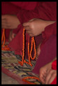 Mala Prayer Beads. Exclusive to Tibet Spirit. Six syllable Mantra. Wood. At Tibet Spirit Store