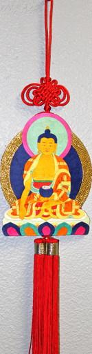 Tibet Silk Appliqué Shakyamuni Buddha Thangka