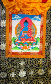Medicine Buddha Thangka  Hanging Scroll. Tibet Spirit Store