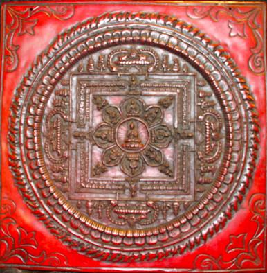 Buddha Mandala At Tibet Spirit Store.