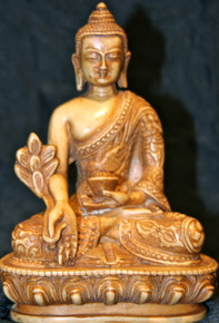 Medicine Buddha Resin Statue At Tibet Spirit Store.
