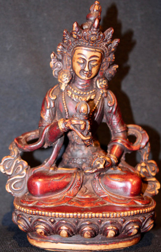 Vajrasattva Resin Statue Two Tone Colored  At Tibet Spirit Store.