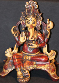 Ganesh Statue. Two Tone Colored At Tibet Spirit Store.