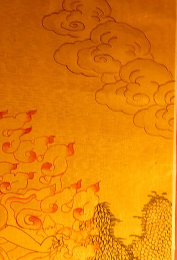 Gold Painted Ekajati Thangka framed.