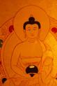 Amitabha Buddha  Gold Painted Thangka framed