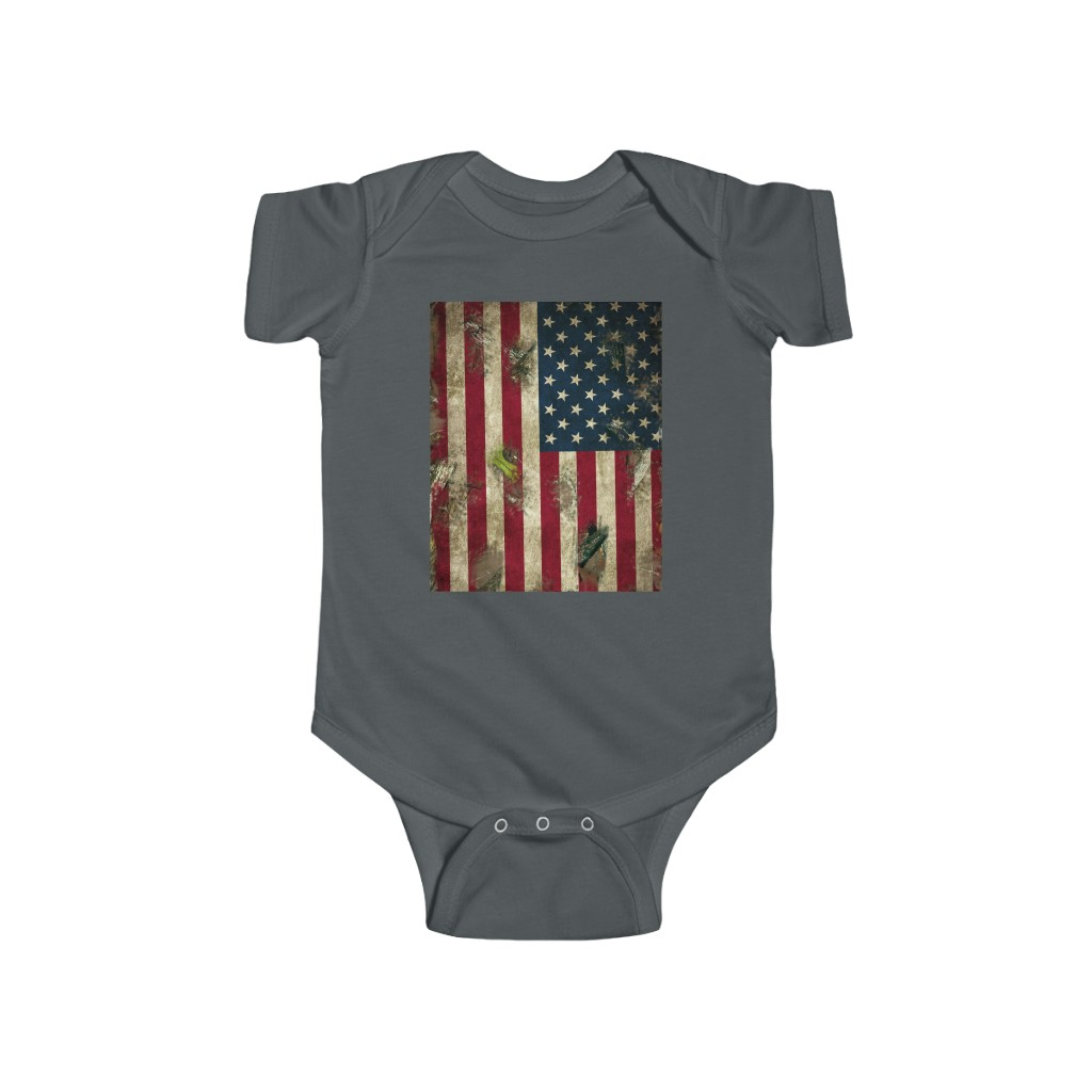 4th of July Baby Onesie Camo