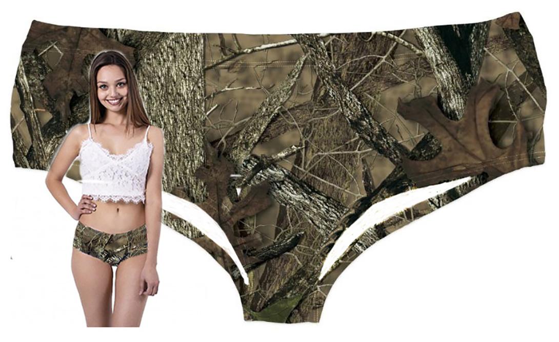 Plus Size Camo Panty