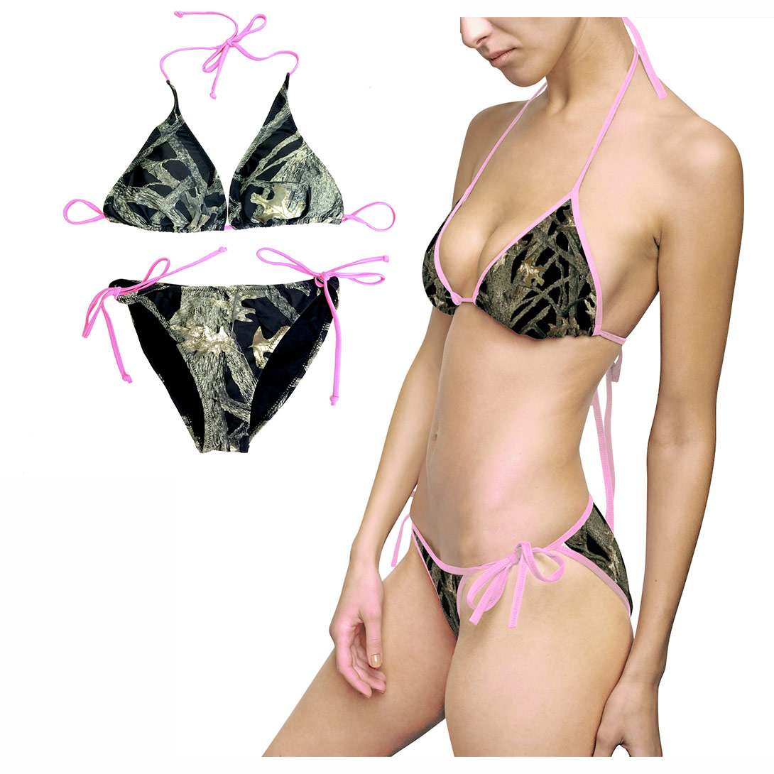 Where Tu Buy Camouflage Bikinis Pink String