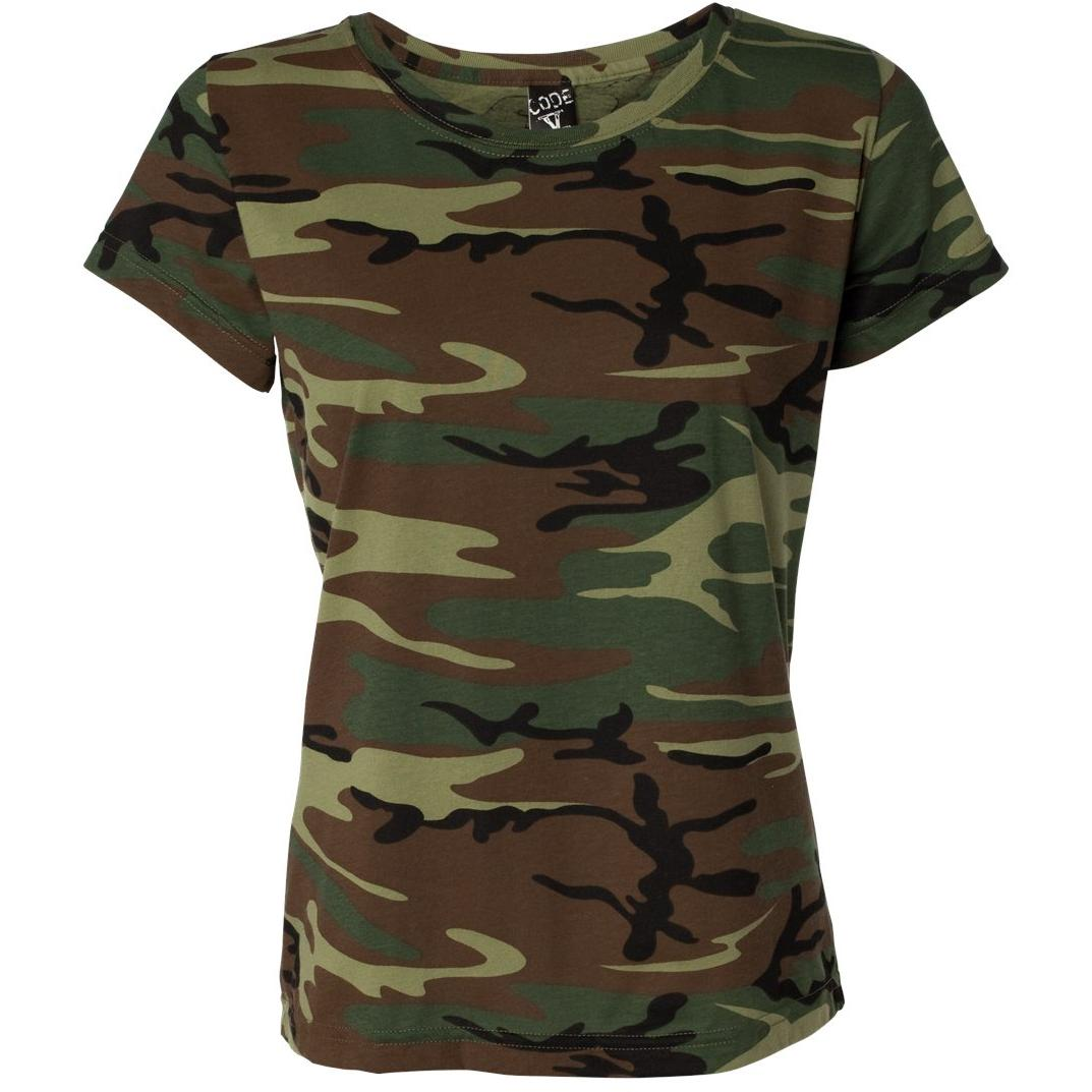 See Our Ladies Cut Woodlands Print T Shirts Here