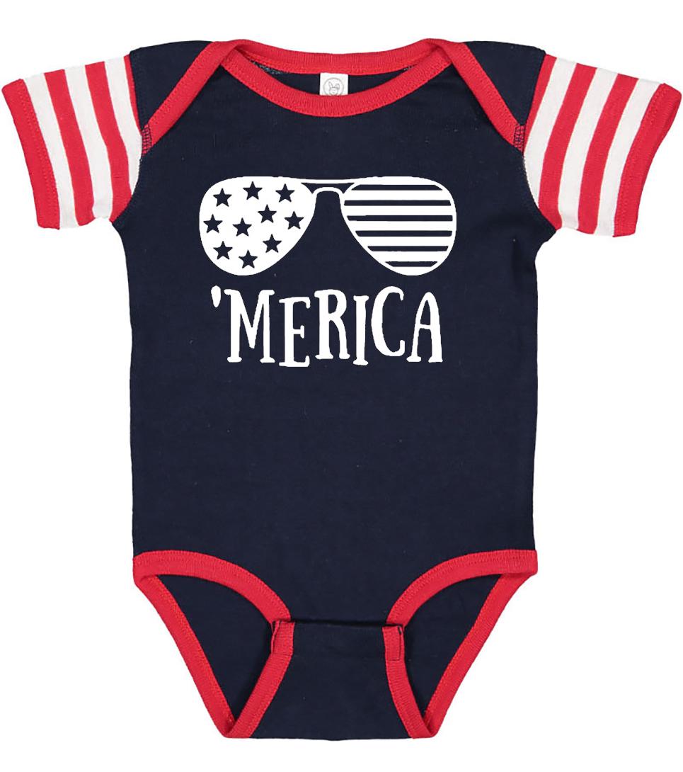 American Flag Baby Onesie