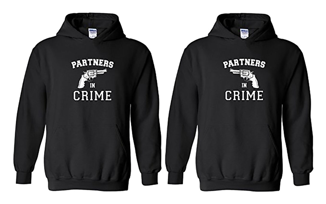 Matching Partners In Crime Hoodie Set